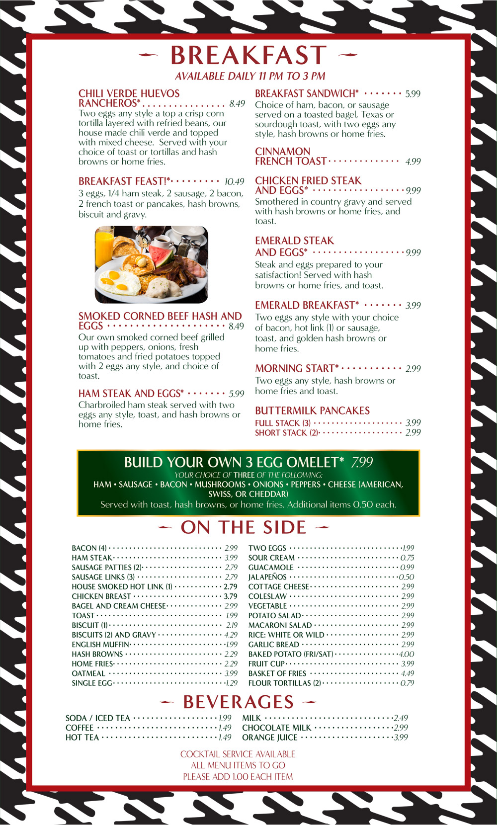Grille Menu Breakfast