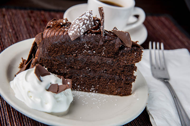 Chocolate Cake at Emerald Island