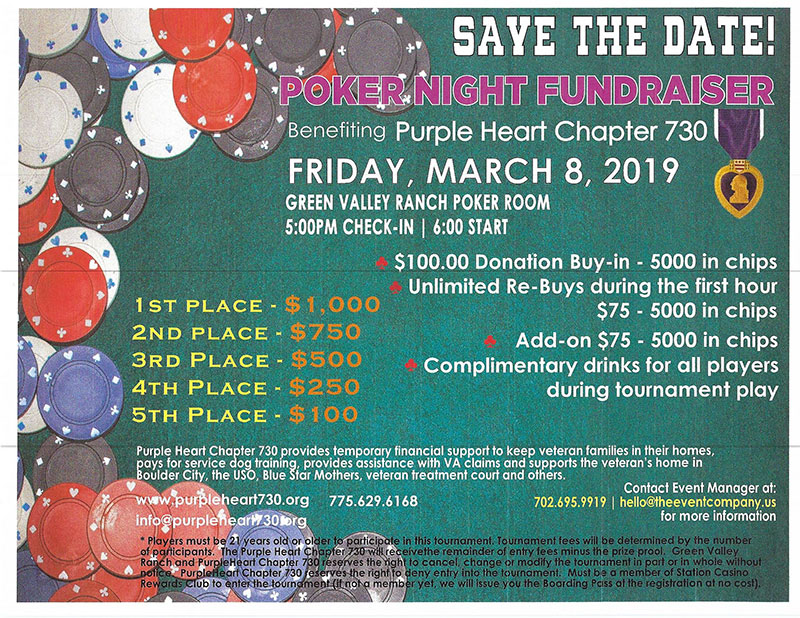 Save the Date - Poker Night Fundraiser Flyer
