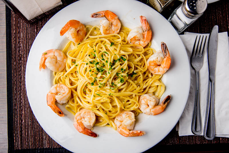 Seafood and Pasta at Emerald Island