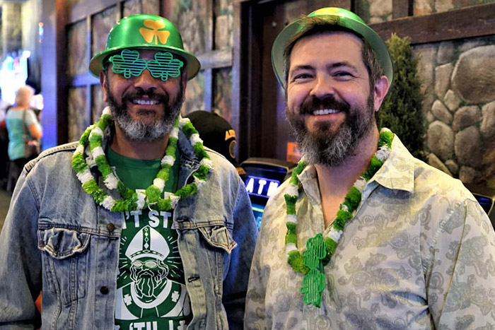 Guests enjoying St. Patrick's Day at Emerald Island Casino