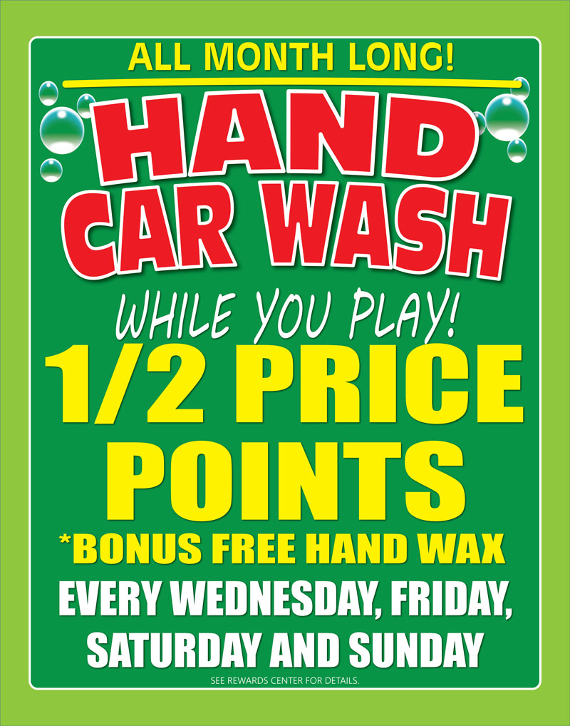 CAR WASH HALF-PRICE Flyer