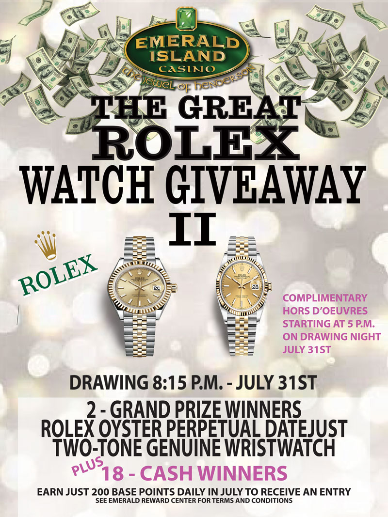 Flyer for The Great Rolex Watch Giveaway 2
