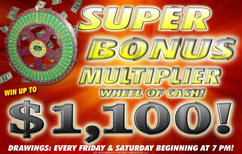 Super Bonus Multiplier Wheel of Cash