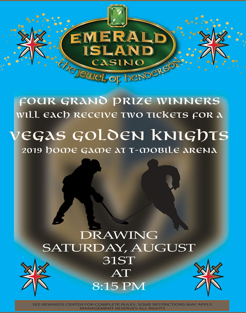 VEGAS GOLDEN KNIGHTS Drawing Flyer for August 2019