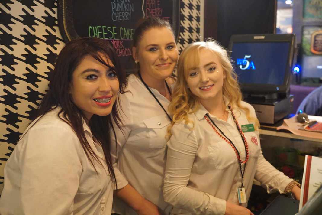 Emerald Island Grille staff smiling