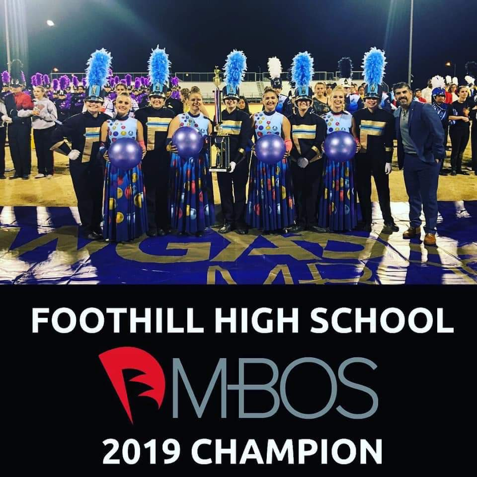 Foothill High School's band at the MBOS Championship