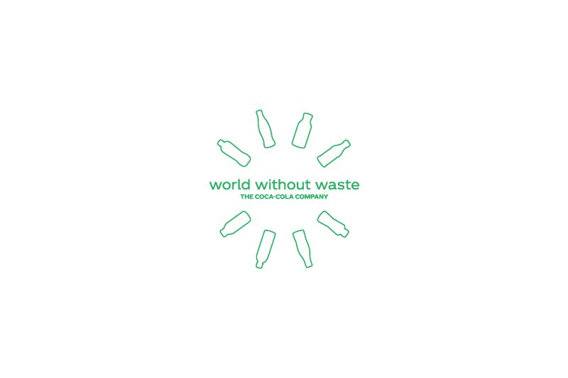 Coca Cola's world without waste logo