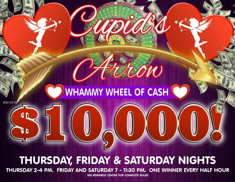 Cupids Arrow Whammy Wheel of Cash 2020