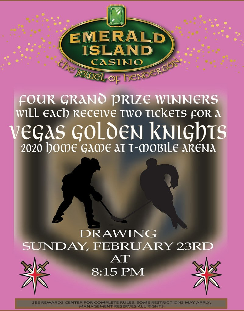 VEGAS GOLDEN KNIGHTS 2020 FEBRUARY flyer