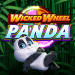 Wicked Wheel Panda slot machine game logo