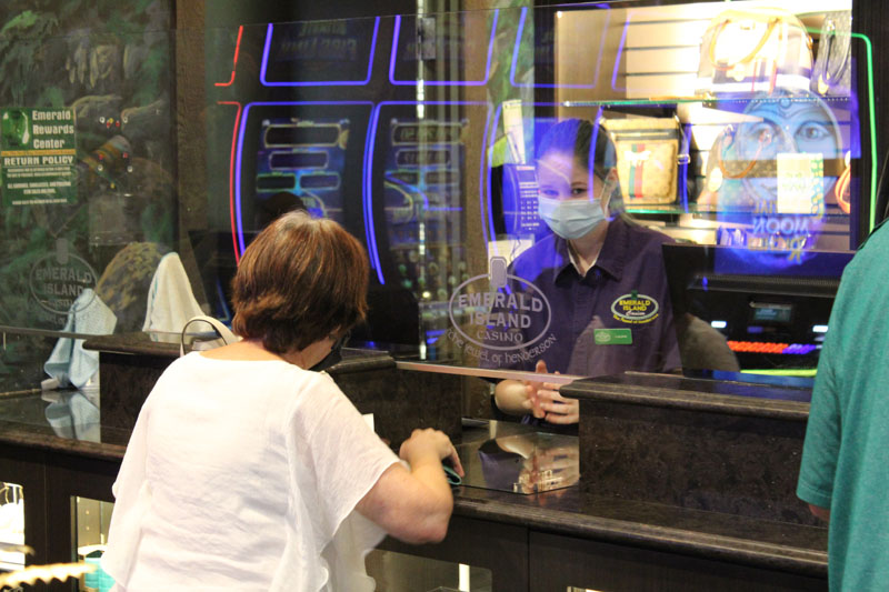 cashier with a customer