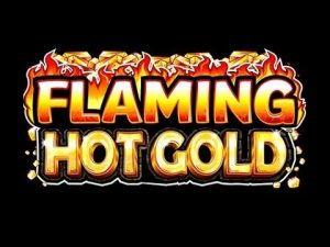 Flaming Hog gold slot machine game logo