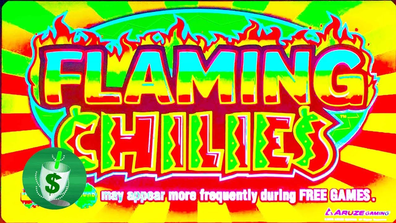 Flaming chili slot machine game logo