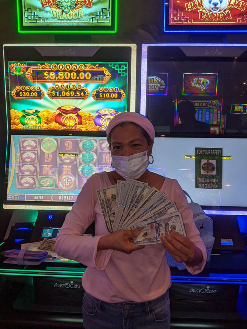 Jojie N. won $8,891 at Emerald Island Casino