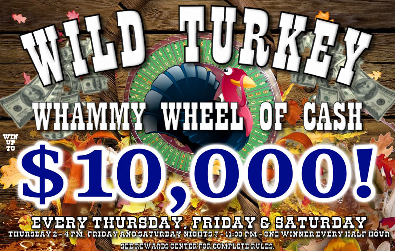 Wild Turkey Wheel of Cash NOVEMBER 2020