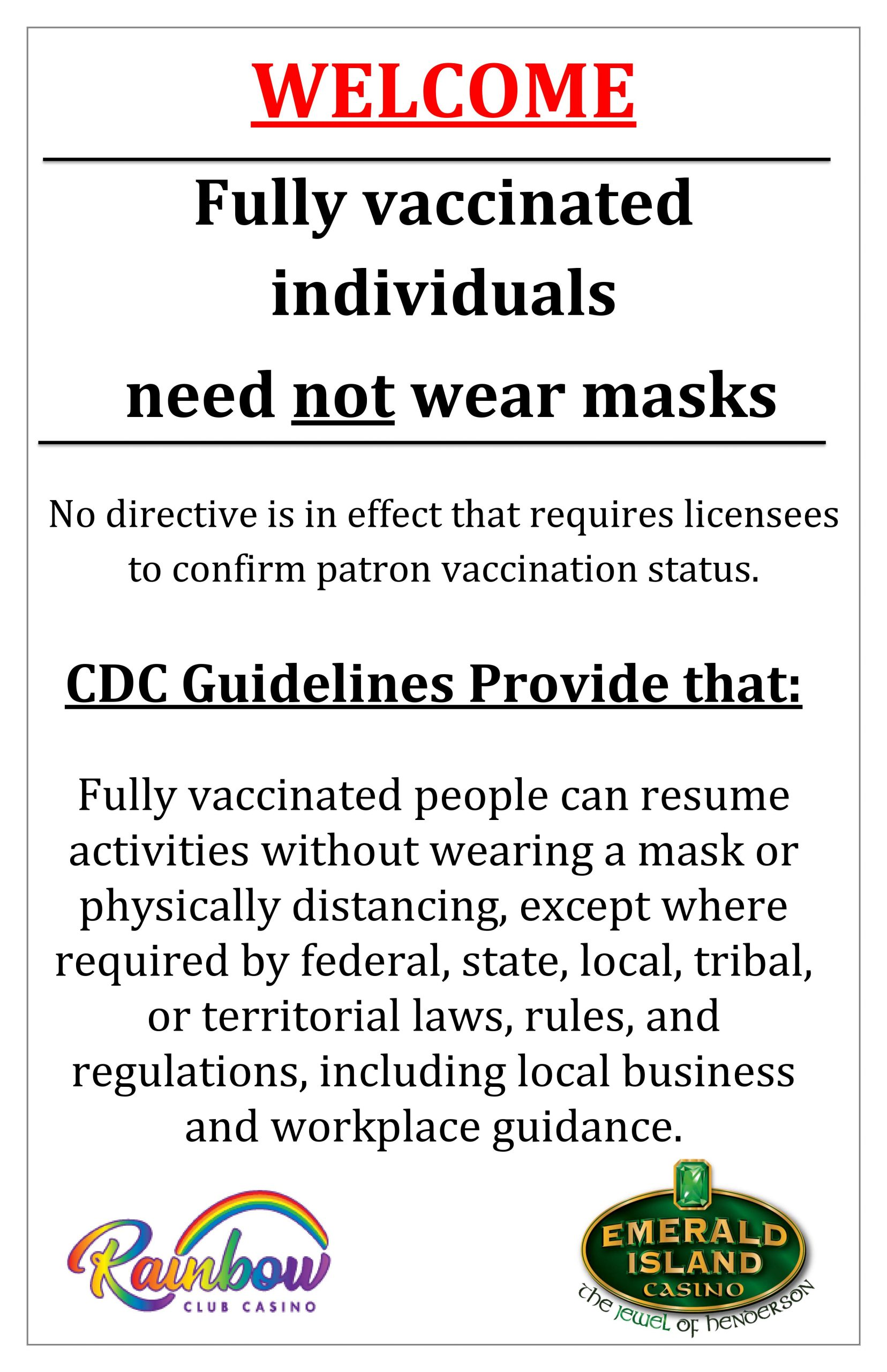 Mask policy